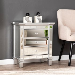 Silver Orchid Mailes Mirrored 3-drawer Accent Chest