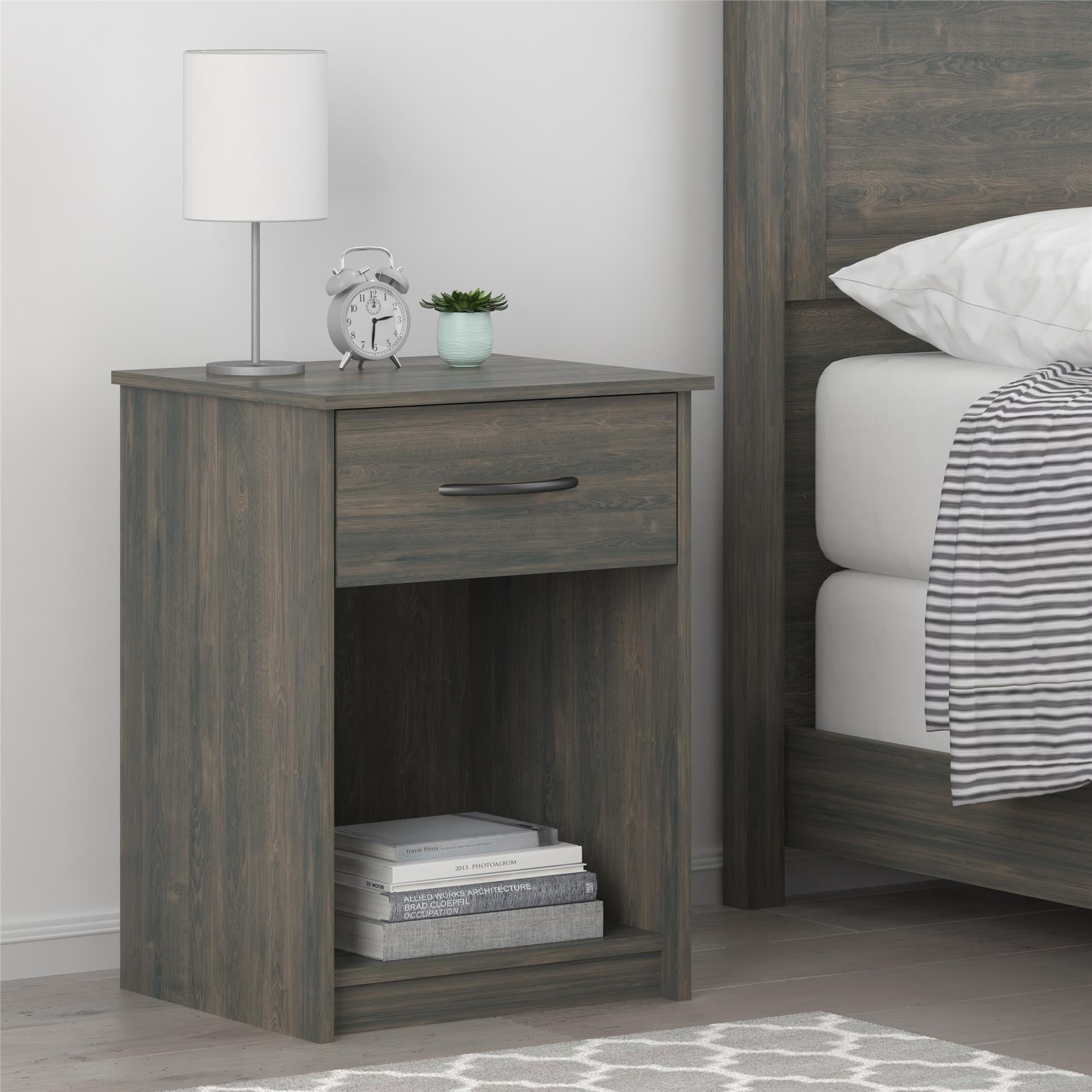 Bedroom Furniture Ameriwood Home Core Nightstand Black Oak
