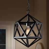 Contemporary Black Metal Geometric Pendant Light