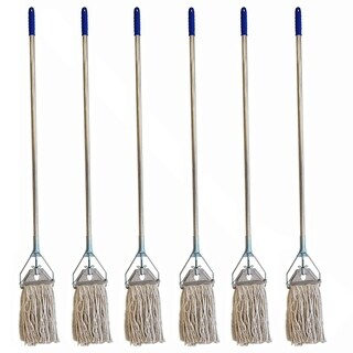 Heavy Duty Premium Industrial Strength Stainless Steel Mop With Handle-6pk