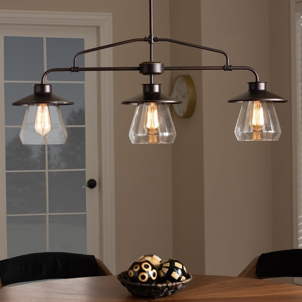 Shop Vintage Industrial Dark Bronze 3-Light Kitchen Island Pendant Light - Dark bronze - Free Shipping Today - Overstock - 25642390 & Shop Vintage Industrial Dark Bronze 3-Light Kitchen Island Pendant ...
