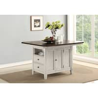 Newport 2-toned Casual Dining Kitchen Island