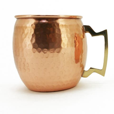 Modern Home Authentic 100 Percent Solid Copper Hammered Moscow Mule Mug