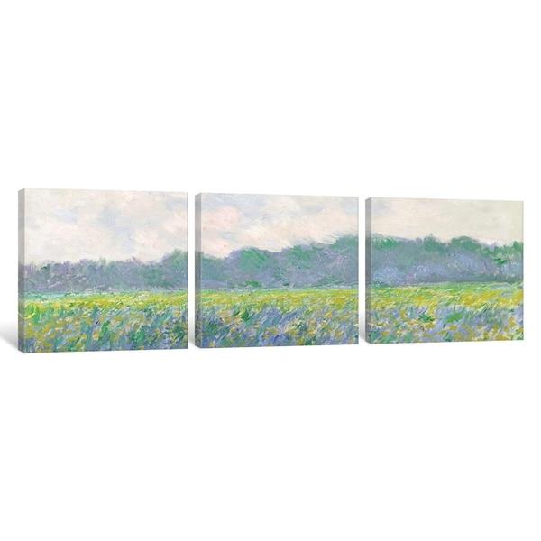 Field of Yellow Irises by Claude Monet Giclee Fine ArtPrint Repro on Canvas