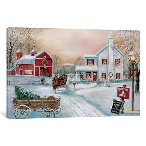 """iCanvas """"Christmas Tree Farm"""" by Ruane Manning"""