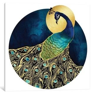"iCanvas ""Golden Peacock"" by SpaceFrog Designs"