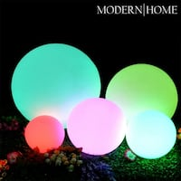 Modern Home LED Glowing Sphere w/Infrared Remote Control