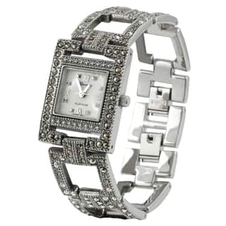 Geneva Platinum Women's Marcasite Antique Inspired Watch|https://ak1.ostkcdn.com/images/products/2564334/P10787116.jpg?impolicy=medium