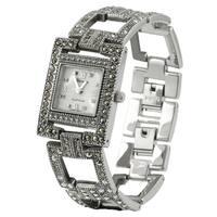 Geneva Platinum Women's  Marcasite Antique Inspired Watch