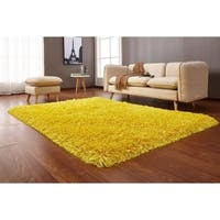 """Yellow Solid 8x11 Area Rug - 7'6"""" x 10'3"""""""