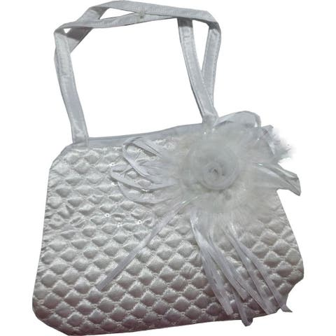 Easter Fun Chiffon Rose Handbag with Zipper Closure (Hot Pink)