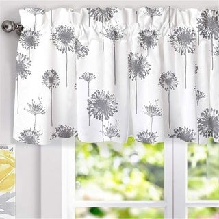 Link to Porch & Den Nelly Dandelion Pattern Lined Window Valance Similar Items in Window Treatments