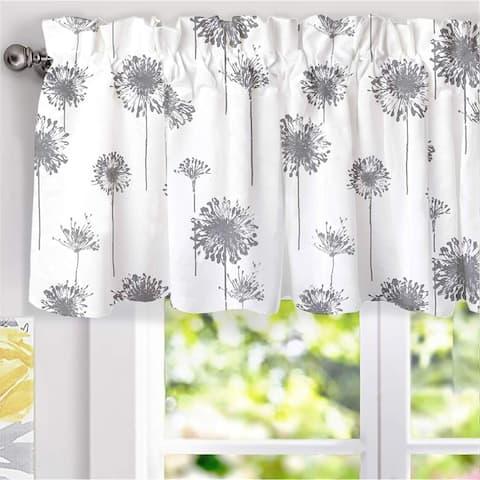 DriftAway Dandelion Floral Flower Lined Window Valance
