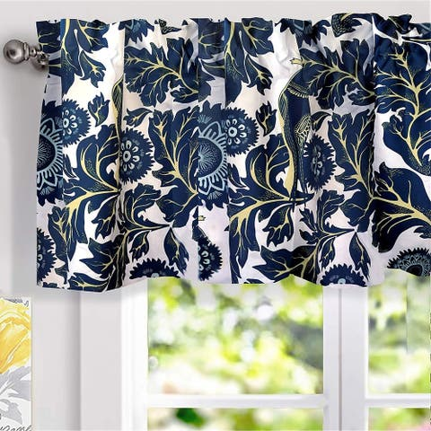 Porch & Den Eyres Floral Thermal-insulated Window Valance
