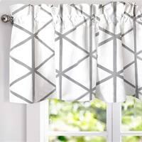 DriftAway Raymond Geometric Pattern Lined Window Valance