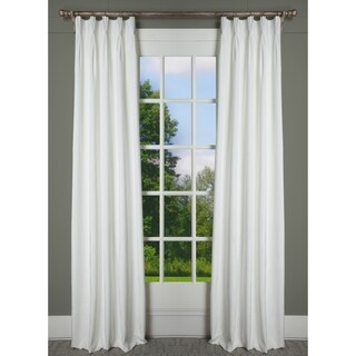Milan Opal White Velvet Pinch Pleat Lined Drapery Panel