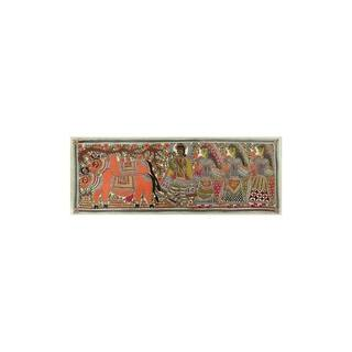 Handmade Krishna The Cowherd Madhubani Painting (India) - primary or jewel colors