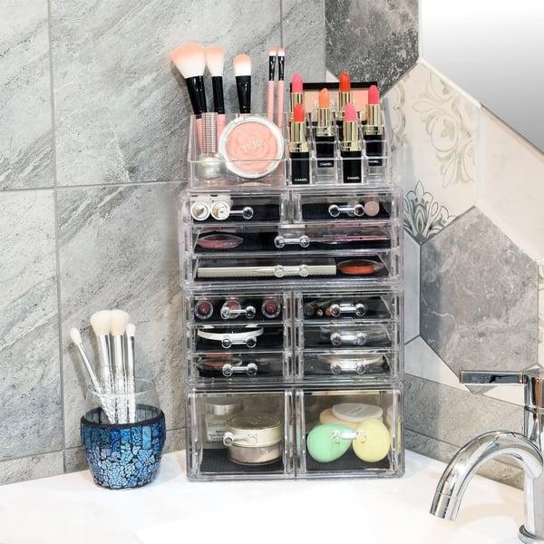 Acrylic 4 Piece Makeup Organizer Set