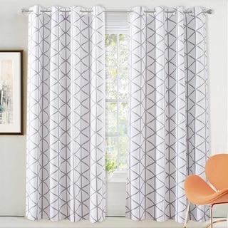 Link to DriftAway Raymond Geometric Pattern Lined Blackout Window Curtain Panel Pair Similar Items in Window Treatments