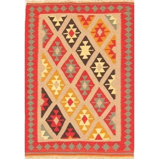 "Oriental Kilim Qashqai Hand Woven Woolen Persian Area Rug - 4'11"" x 3'6"""