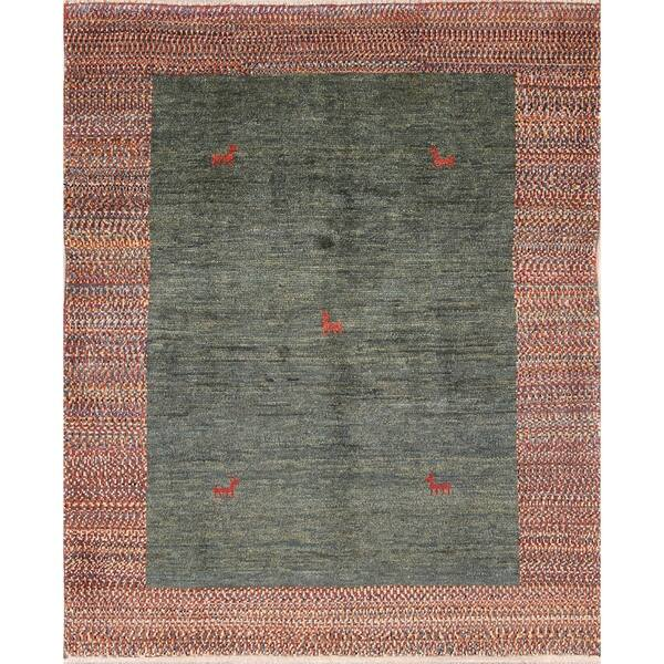 Little Animals Nomad Gabbeh Shiraz Handmade Persian Area Rug Oriental 4 5 X 3 7 Overstock 25656822
