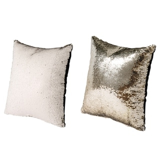 Vintage 16-inch Champagne Glamour Throw Pillows (Set of 2)
