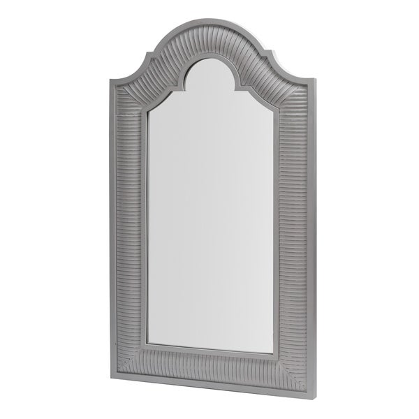 Transitional Smooth Gray White Floor Mirror