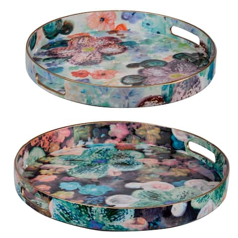 Organic Elements Modern Chic Multi-Color Trays (Set of 2)