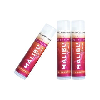 Spa Island SPF15 Sun Protection Malibu Pomegranate Lip Balm - 3 Pack - N/A