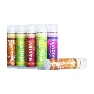 Spa Island SPF15 Sun Protection Assorted Flavor Lip Balm - 6 Pack