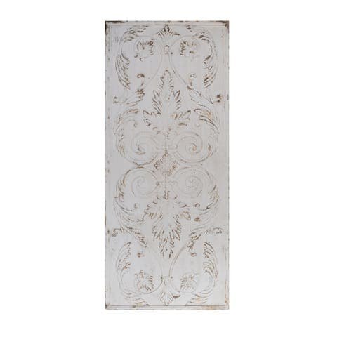 Southern Living French Country Antique White Wooden Wall Art