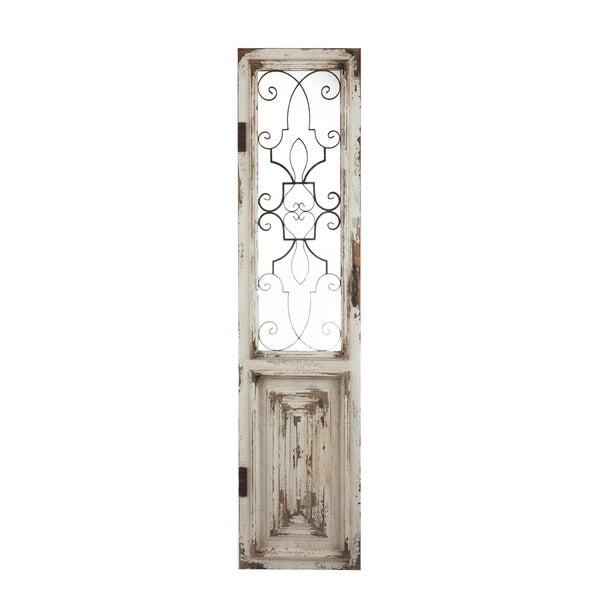 Chalet Distressed White Decorative Door