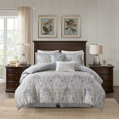 Harbor House Hallie 6 Piece Queen Size Cotton Comforter Set (As Is Item)