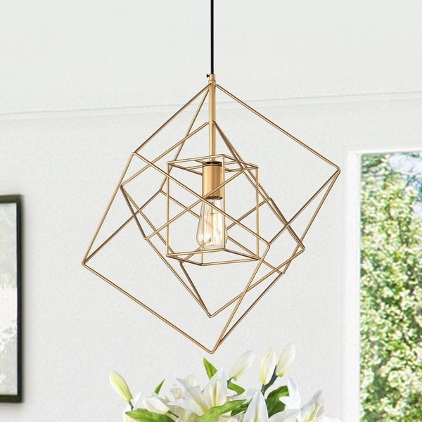 Arabella Gold 1-Light Pendant with Clear Shade. Opens flyout.