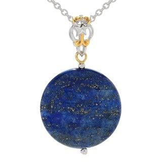 Michael Valitutti Palladium Silver Lapis Lazuli Disc Pendant