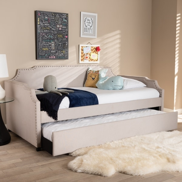 Contemporary Twin Size Daybed with Roll Out Trundle Guest Bed. Opens flyout.