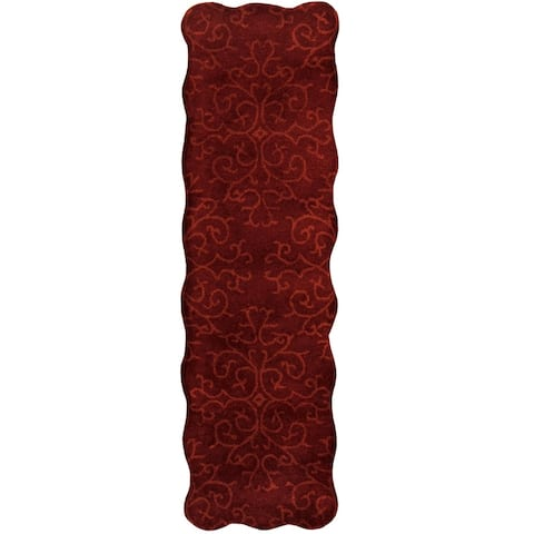 Handmade Tibetan Wool Rug (India) - 2' x 7'