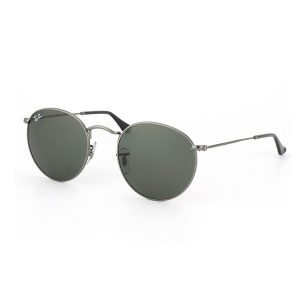 d1ac33ce557 Shop Ray-Ban RB3447 Round Metal Men Sunglasses - Gunmetal - Free Shipping  Today - Overstock.com - 25657211
