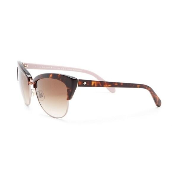 cb22da75fd Shop Kate Spade Genette Women Sunglasses - Tortoise - Free Shipping Today -  Overstock - 25657229