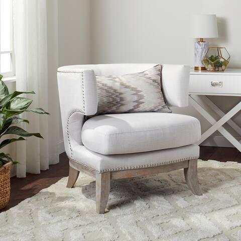 Abbyson Charlie Fabric Accent Chair
