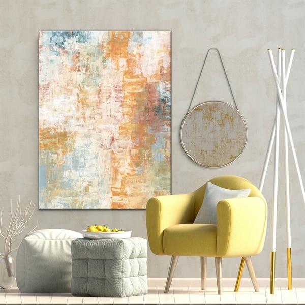 White Abstract Living Room Art