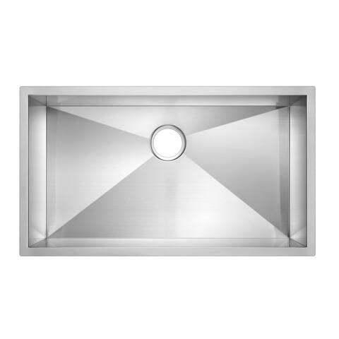"""33""""X19"""" Single Bowl 16g SS Undermount Kitchen Sink"""