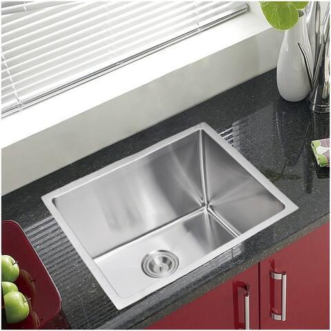 """23""""X20"""" Single Bowl 16g SS Undermount Kitchen Sink"""