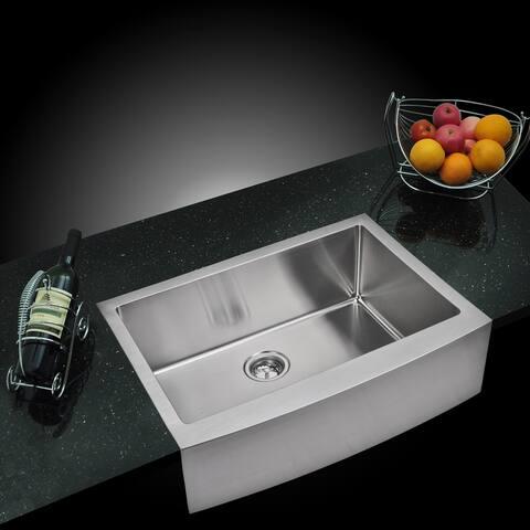 """30""""X22"""" Single Bowl 16g SS Apron Kitchen Sink"""