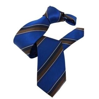 DMITRY Royal Blue Striped Italian Silk Tie