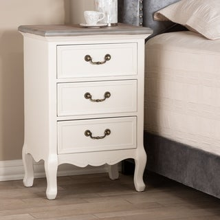 Copper Grove Salzburg French Country Cottage 3-drawer Nightstand