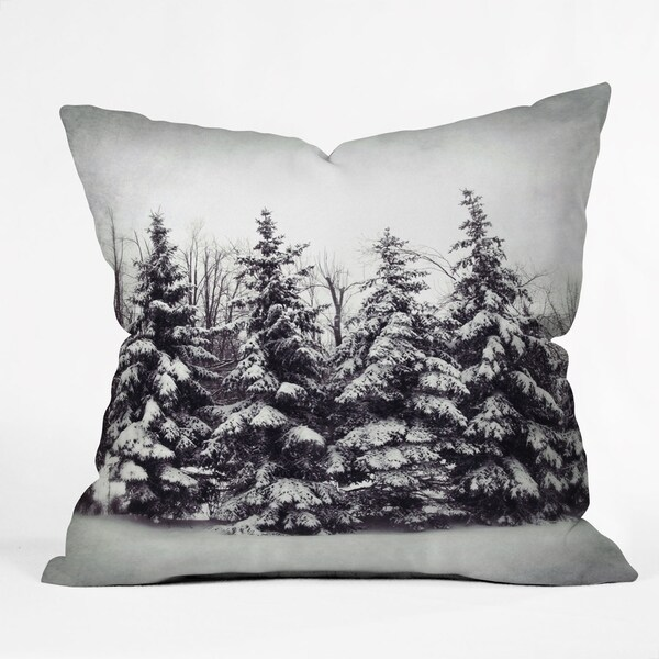 Deny Designs Snow Tree Reversible Indoor/Outdoor Throw Pillow (4sizes)