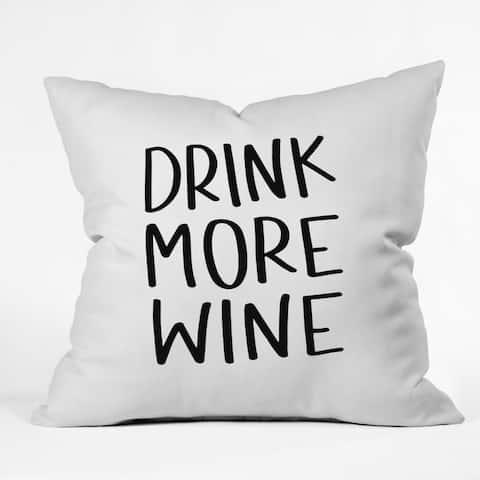 Deny Designs Wine Reversible Indoor/Outdoor Throw Pillow (4 sizes)