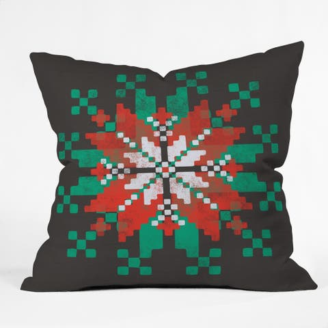 Deny Designs Snowflake Reversible Indoor/Outdoor Throw Pillow (4sizes)