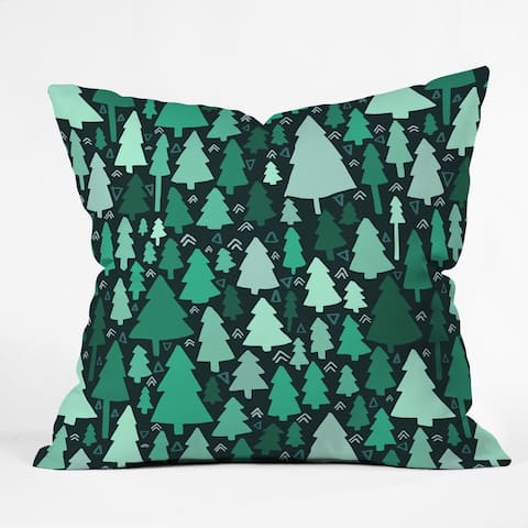 Deny Designs Trees Reversible Indoor/Outdoor Throw Pillow (4 sizes)